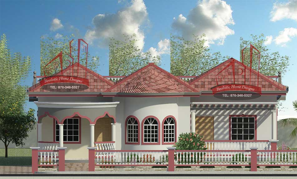 Home designs building construction 3d rendering real for Bedroom designs in jamaica
