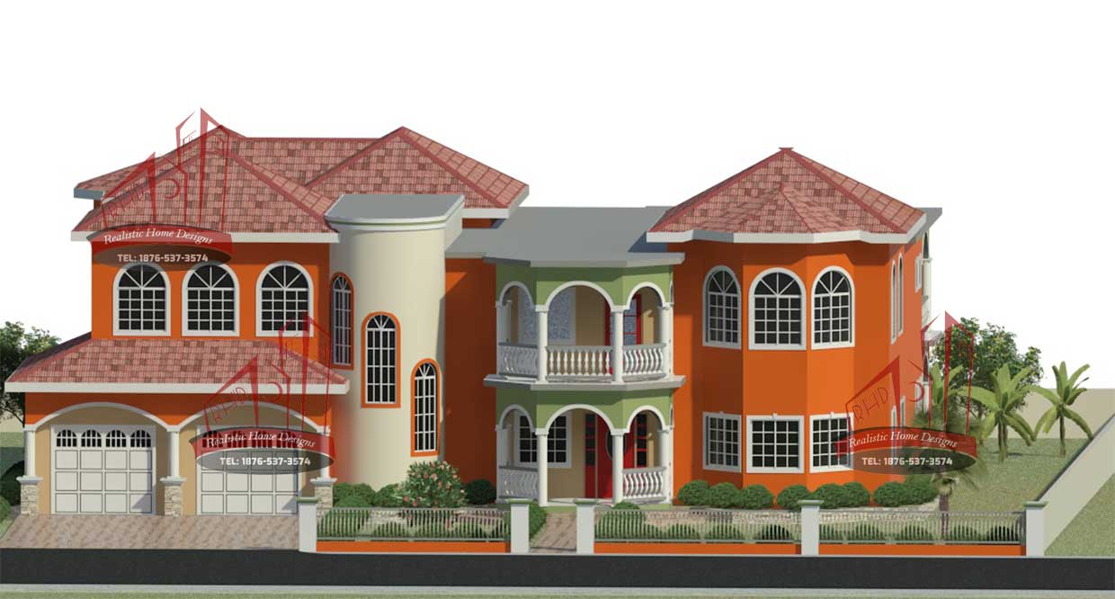 Home designs building construction 3d rendering real for House plans jamaica